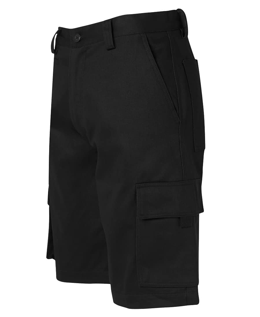 6NMS JB's Standard weight Cotton Drill Cargo Shorts Black