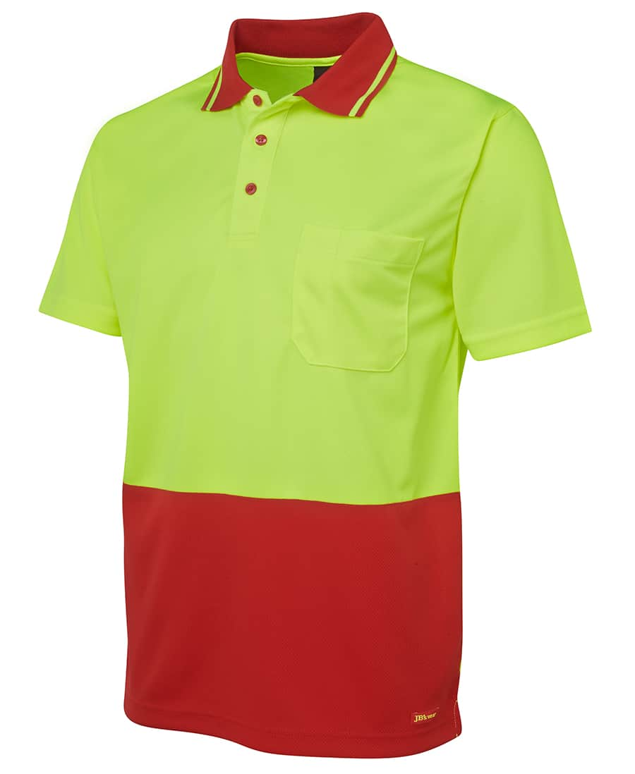 6HVNC JB's Hi Vis Short Sleeve Non Cuff Polo