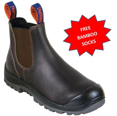 545030 Mongrel Steel Capped Elastic Sided Cut work boot with bump cap