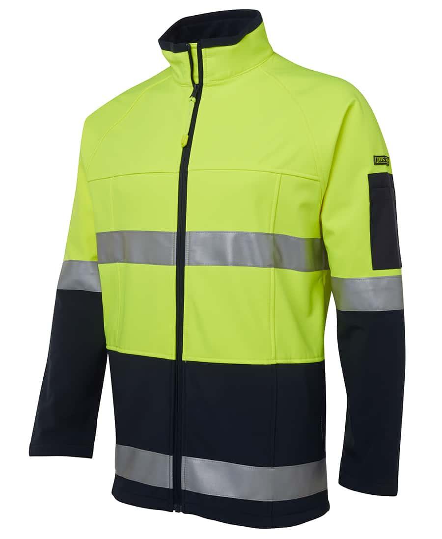 6D4LJ JB's Hi Vis Soft Shell Jacket Yellow