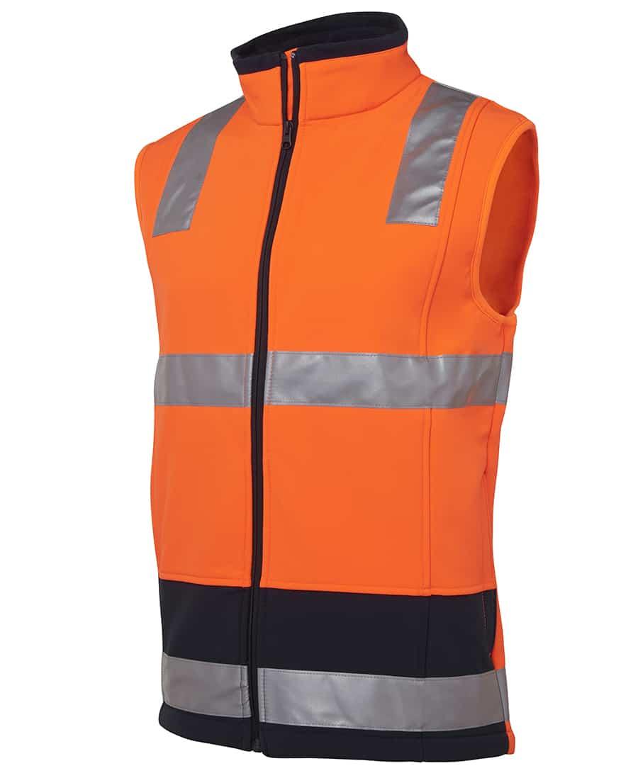 6D4LK JB's Hi Vis Soft Shell Vest Orange