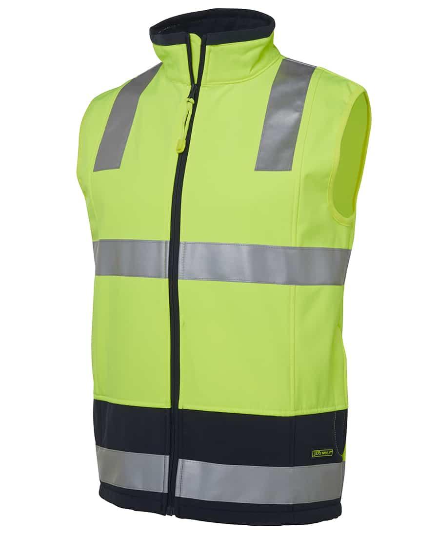 6D4LK JB's Hi Vis Soft Shell Vest Yellow