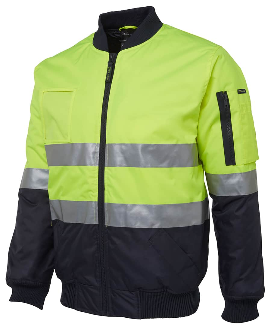 6DNFJ JB's Hi Vis Day or Night Taped Flying Jacket Yellow