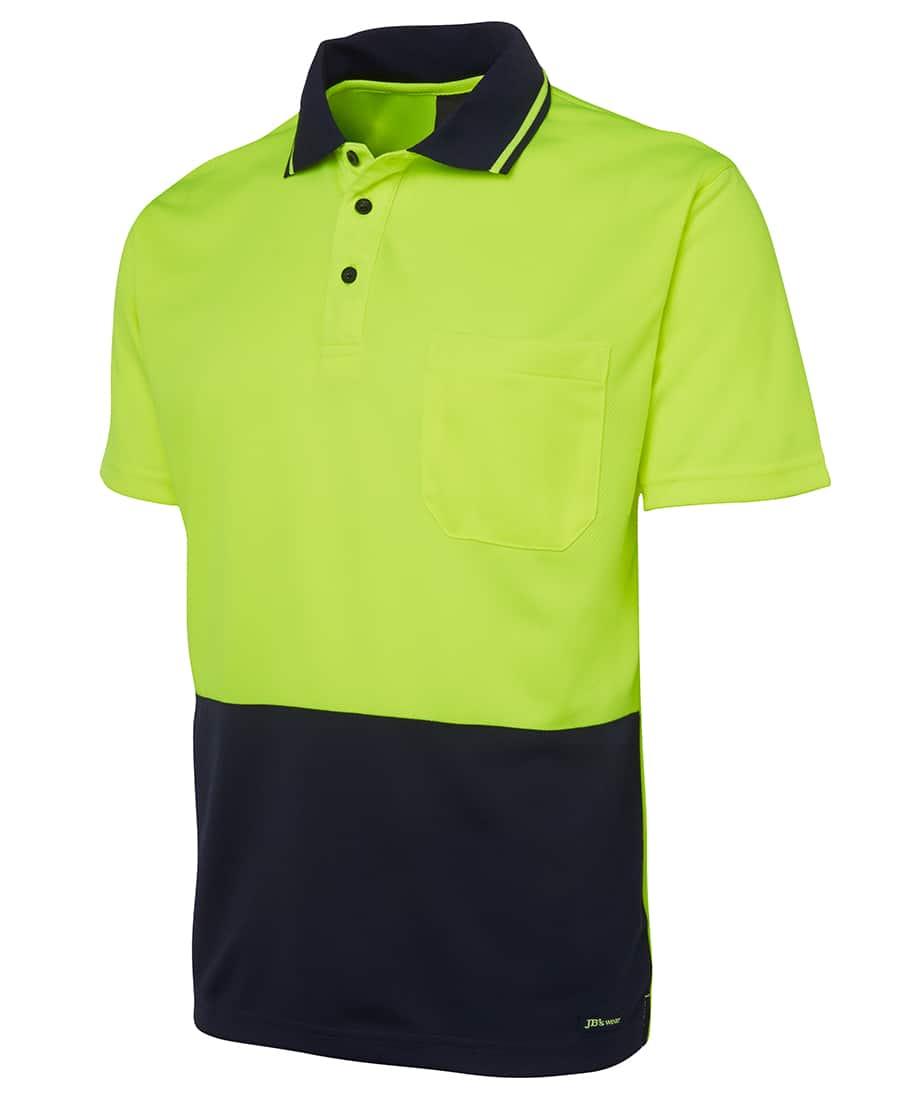 6HVNC JB's Hi Vis Short Sleeve Non Cuff Polo yellow