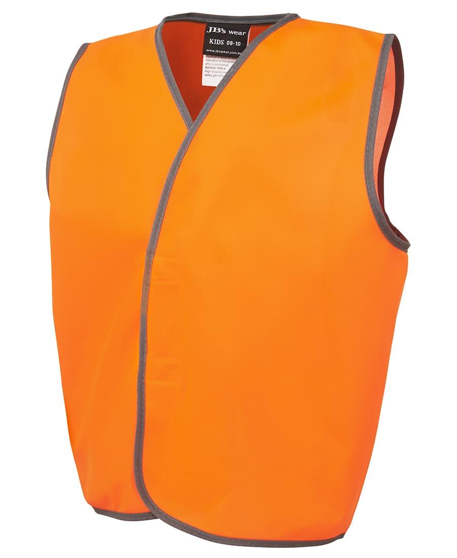 6HVSU JB's Kid's Hi Visibility Day Vest orange