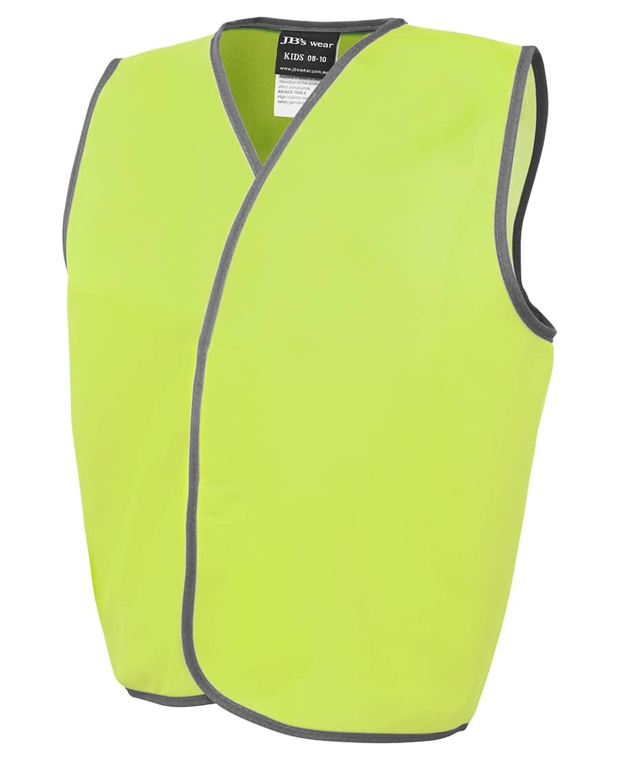 6HVSU JB's Kid's Hi Visibility Day Vest yellow