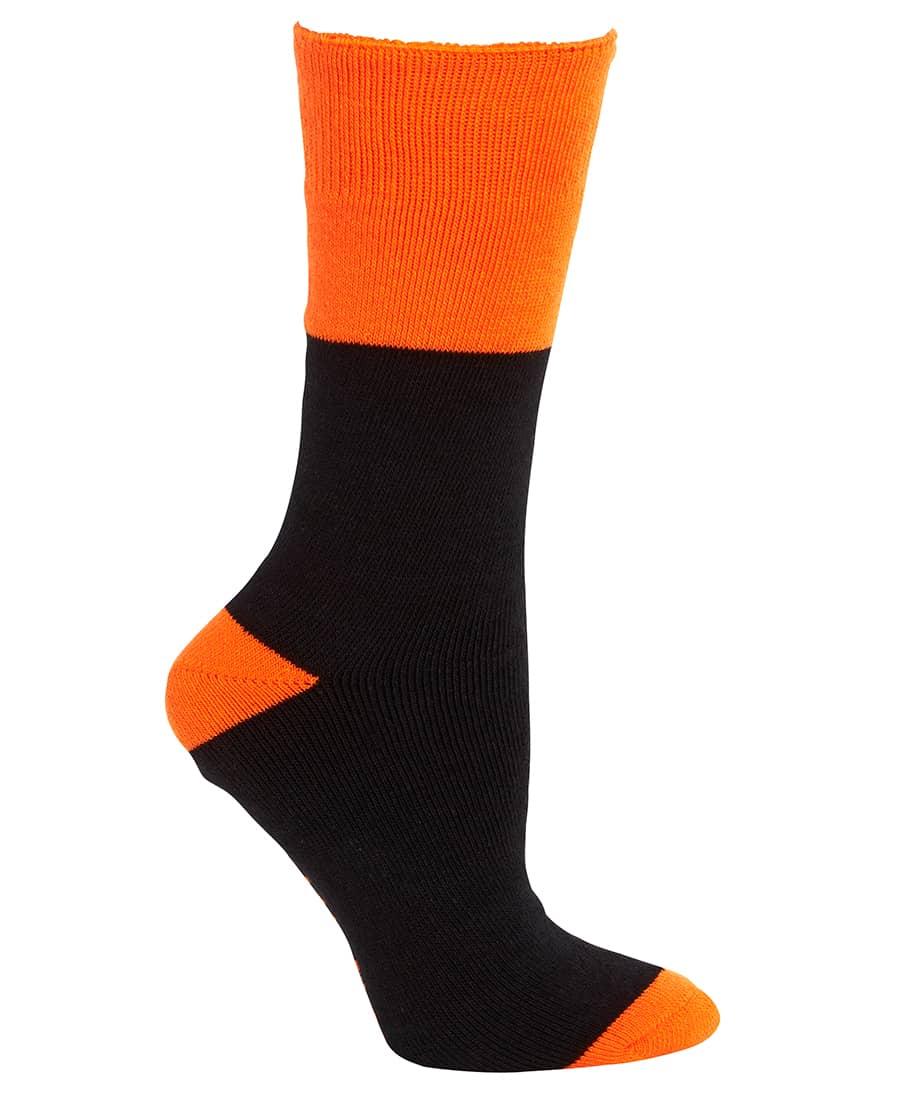 6WWS JB's Work Sock 3 Pack blackorange