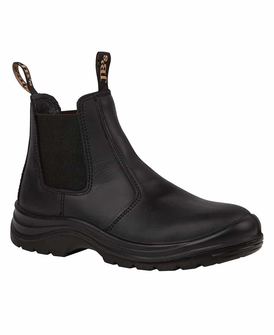 9E1 JB's Elastic sided Steel Capped Boot black