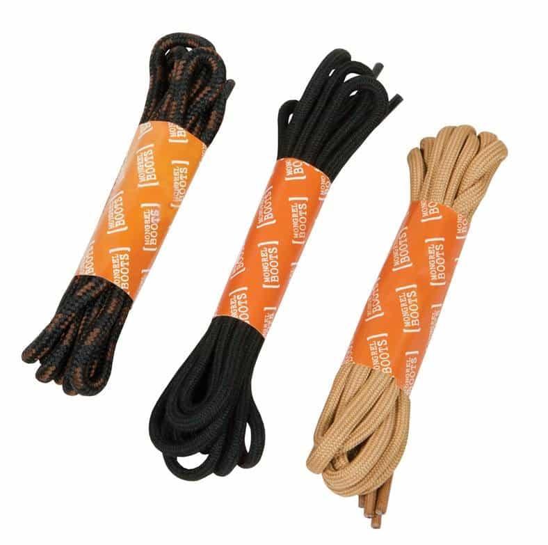LACESM120BLA Mongrel boots shoe laces 120cm BLACK
