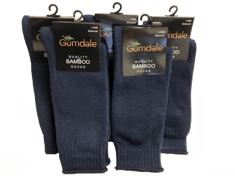bamboo work socks gumdale navy 5 pack