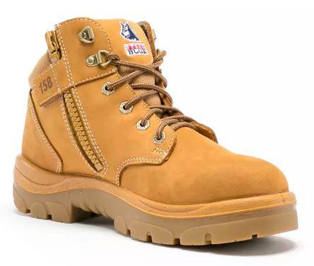 312158 Steel Blue Parkes Zip Boot Wheat