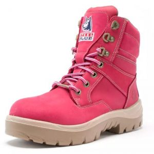 Steel Blue Ladies Southern Cross Workboot Pink 522760