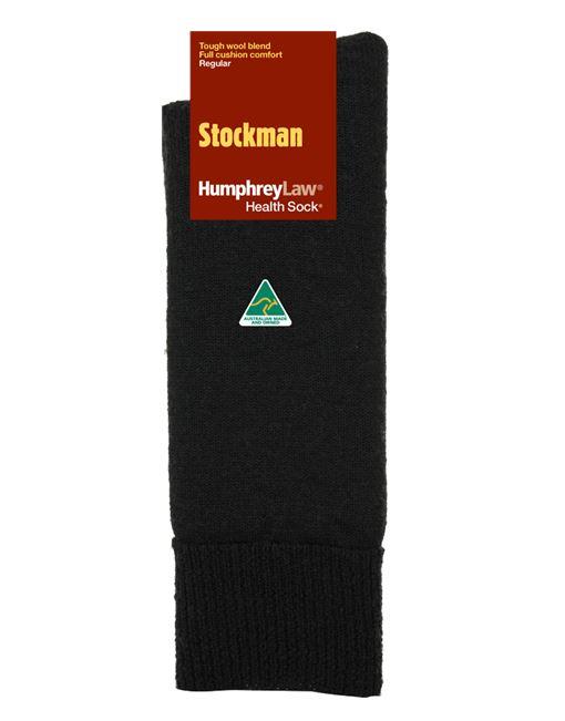 20C_009 Humphrey Law Stockman Health Wool Sock Black