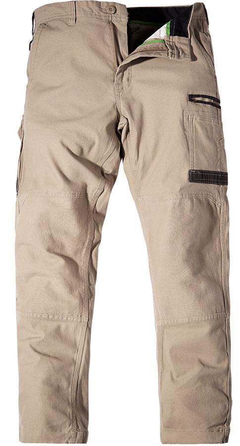 WP3 FXD Mens workwear pants stretch khaki front