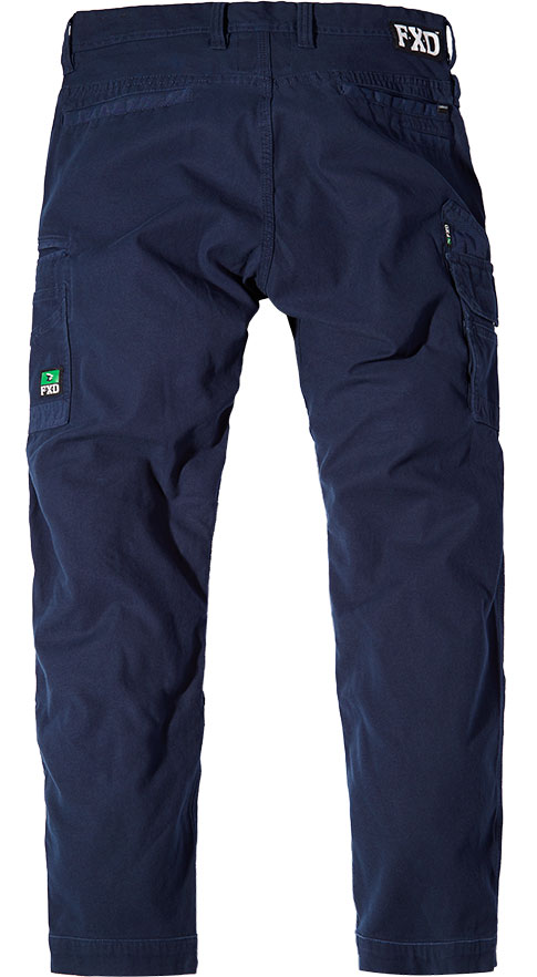 WP3 FXD Mens workwear pants stretch navy back