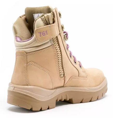 522761 Southern Cross Ladies Work boot Sand Steel Blue